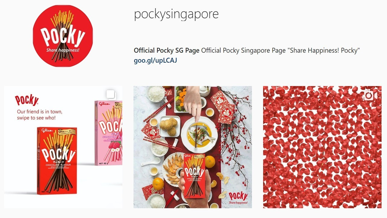 Glico, Instagram, Singapore, Pocky, Share happiness!