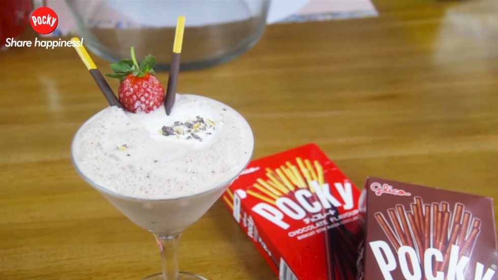Pocky Chocolate Frappe