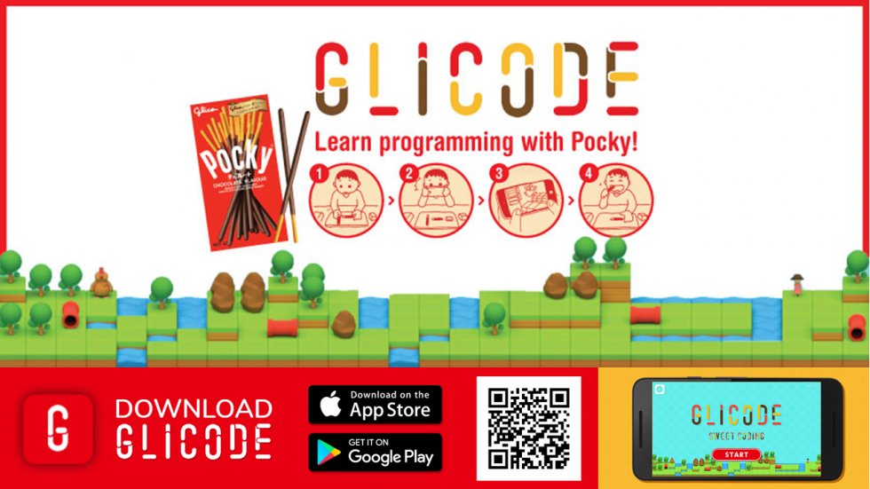 GLICODE, Pocky, Glico, programming, code, education, Singapore, app