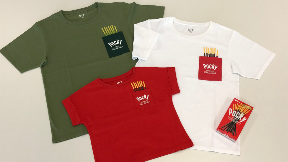 Pocky, Uniqlo, UT, shirt, Glico, Share happiness!