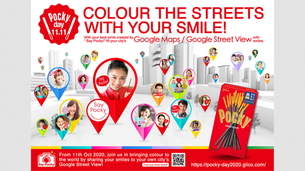 Pocky day 2020, Guinness World Records, Global No.1, Pocky, 1111, Nov11, Share happiness, smile, Say Pocky! Cheer Street View